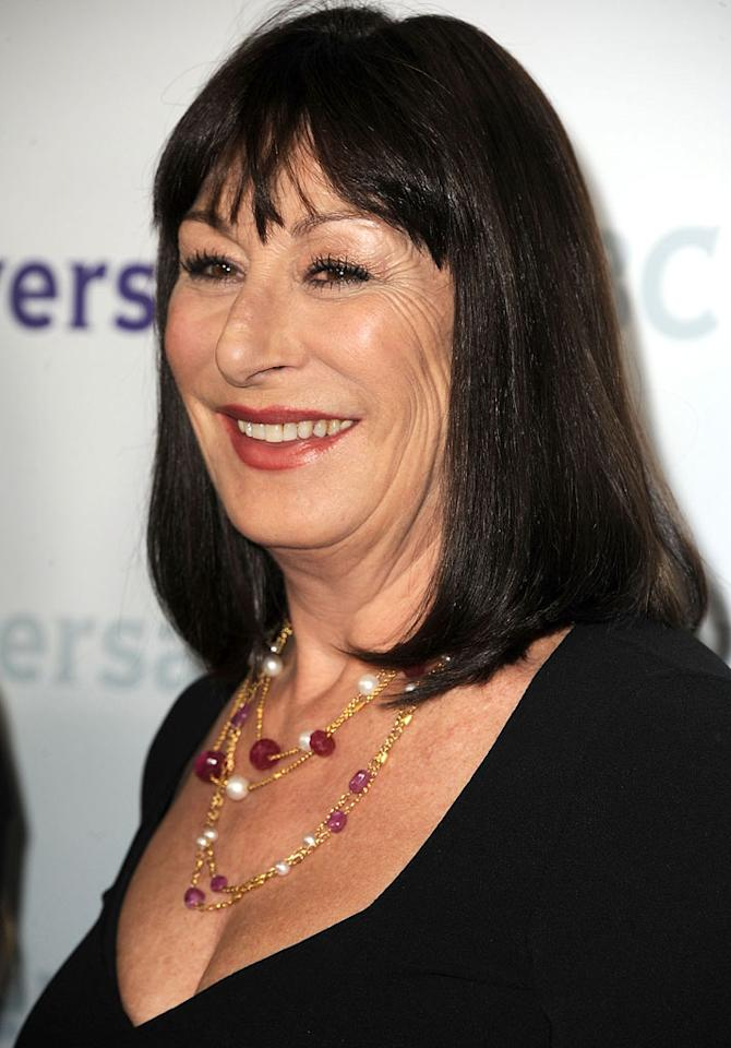 """<a href=""""/anjelica-huston/contributor/28864"""">Anjelica Huston</a> (""""<a href=""""/smash/show/47403"""">Smash</a>"""") attends the 2012 NBC Universal Winter TCA All-Star Party at The Athenaeum on January 6, 2012 in Pasadena, California."""