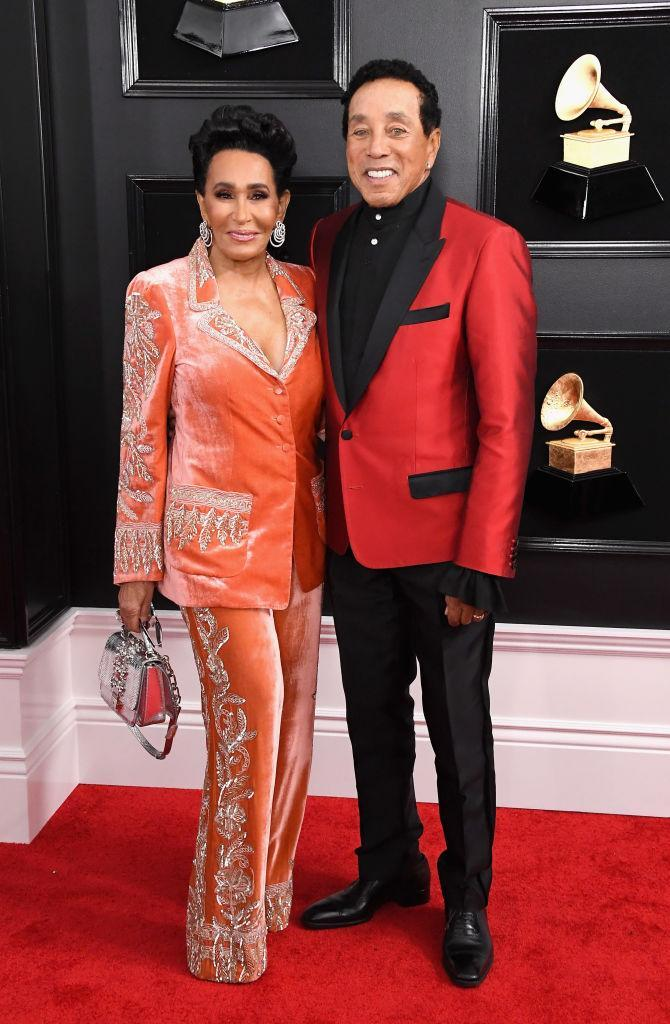 <p>Frances Glandney and Smokey Robinson attend the 61st annual Grammy Awards at Staples Center on Feb. 10, 2019, in Los Angeles. </p>