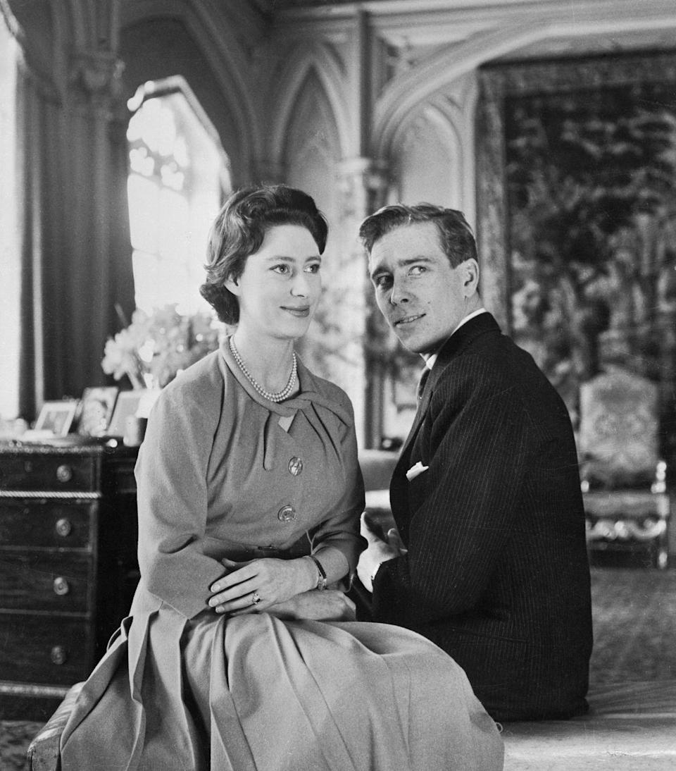 <p>Princess Margaret opted for a colored stone. Antony Armstrong-Jones proposed to the Princess with a ruby cluster ring that resembled a flower. </p>