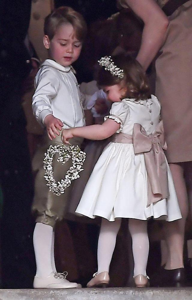 Prince George and Princes Charlotte wore bespoke outfits for their aunt Pippa Middleton's big day. (Photo: PA)