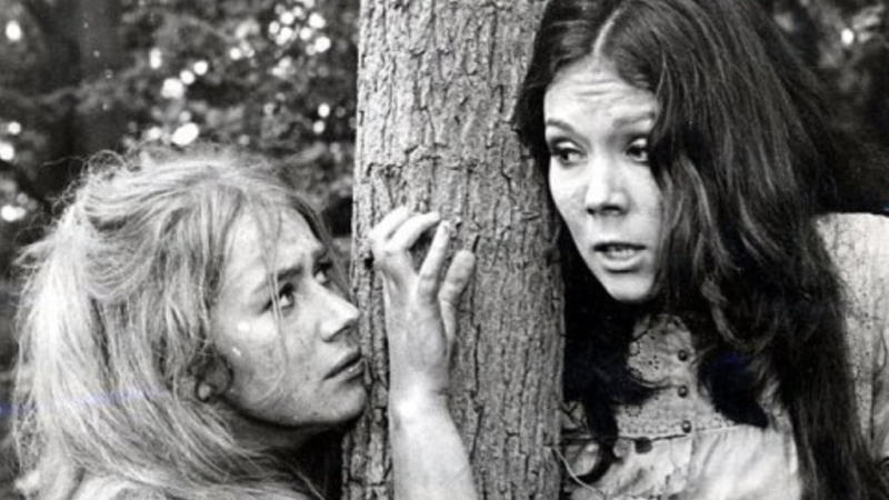 Helen Mirren and Diana Rigg in 'A Midsummer Night's Dream'. (Credit: Eagle)