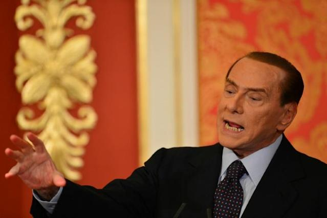 Silvio Berlusconi is gunning for Serie A with Monza after his team were promoted to Serie B on Monday (AFP Photo/GIUSEPPE CACACE)