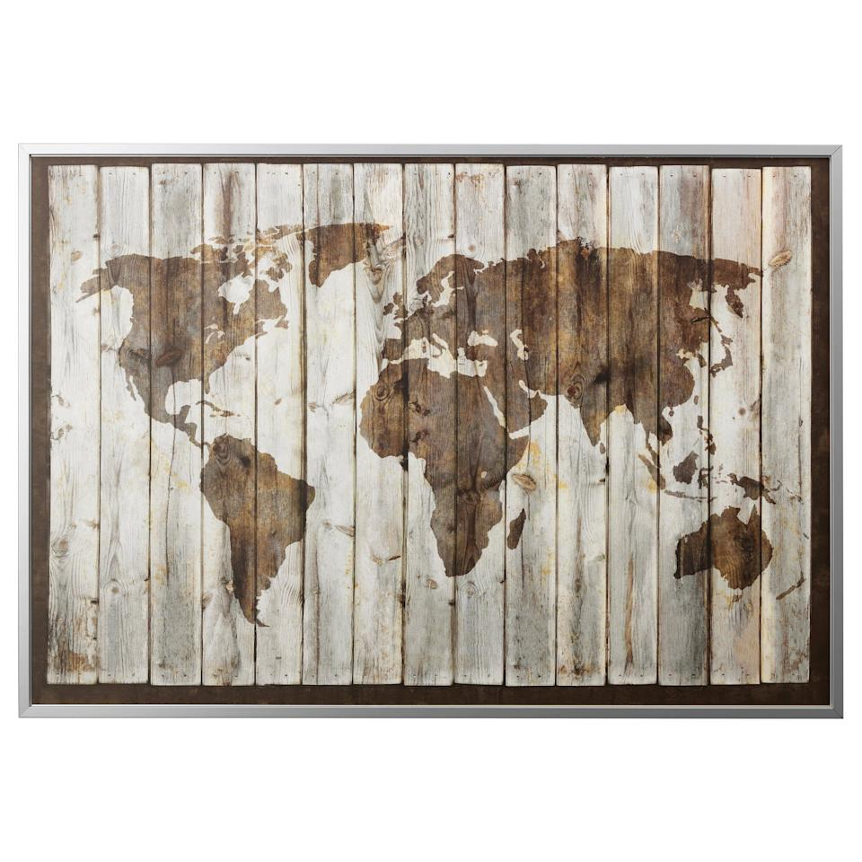 """<p>This <a href=""""https://www.popsugar.com/buy/Bj%C3%B6rksta-Driftwood-Map-Picture-Frame-474308?p_name=Bj%C3%B6rksta%20Driftwood%20Map%20Picture%20and%20Frame&retailer=ikea.com&pid=474308&price=99&evar1=casa%3Aus&evar9=46436410&evar98=https%3A%2F%2Fwww.popsugar.com%2Fhome%2Fphoto-gallery%2F46436410%2Fimage%2F46436461%2FBj%C3%B6rksta-Driftwood-Map-Picture-Frame&list1=home%20decor%2Cikea%2Chome%20decorating%2Cwall%20art&prop13=api&pdata=1"""" rel=""""nofollow"""" data-shoppable-link=""""1"""" target=""""_blank"""" class=""""ga-track"""" data-ga-category=""""Related"""" data-ga-label=""""https://www.ikea.com/us/en/catalog/products/S39177861/#/S39177861"""" data-ga-action=""""In-Line Links"""">Björksta Driftwood Map Picture and Frame</a> ($99) doesn't just make for a great conversation piece - it will also remind you of all of the places you have to explore out there. </p>"""