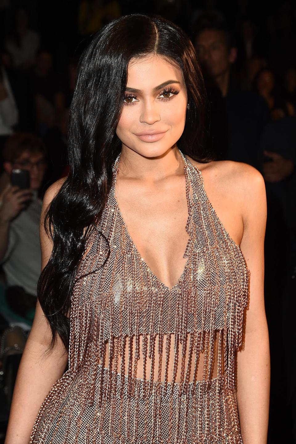 "<p>For years, social media mogul and lip kit extraordinaire Kylie Jenner denied having lip fillers until an interview with <a href=""https://www.allure.com/story/kim-kardashian-kylie-jenner-beauty-advice"" rel=""nofollow noopener"" target=""_blank"" data-ylk=""slk:Allure"" class=""link rapid-noclick-resp""><em>Allure</em></a> in 2016. ""I definitely made my lips a little too big at one point,"" she revealed. ""I got excited and felt like I needed to do a lot."" <em>[Photo: Getty]</em> </p>"