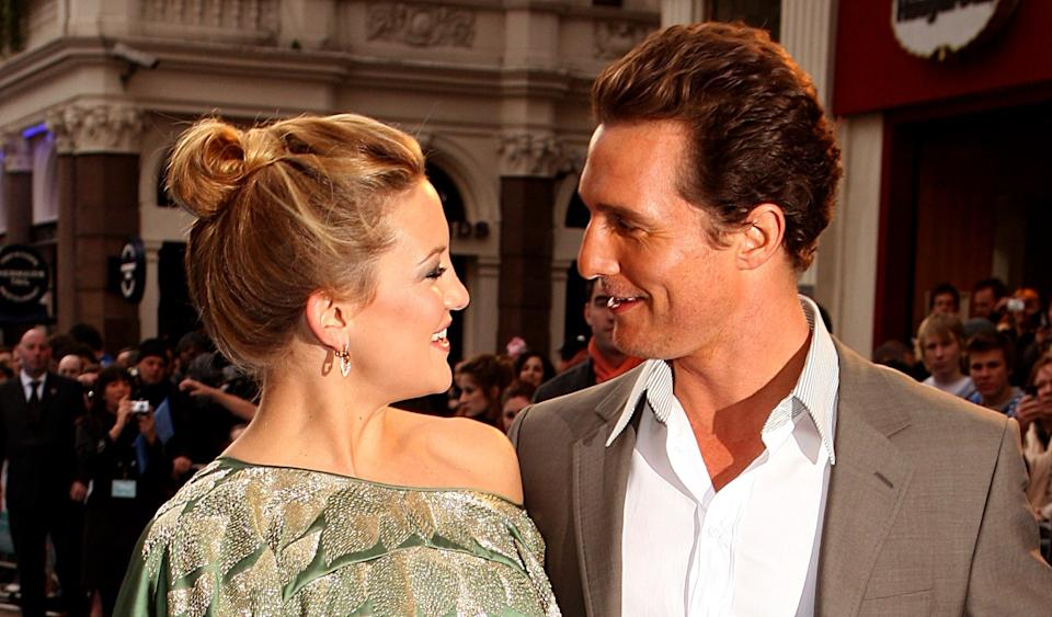 Matthew McConaughey and Kate Hudson arrive for the European Film Premiere of Fool's Gold at the Odeon Leicester Square, London, WC2.