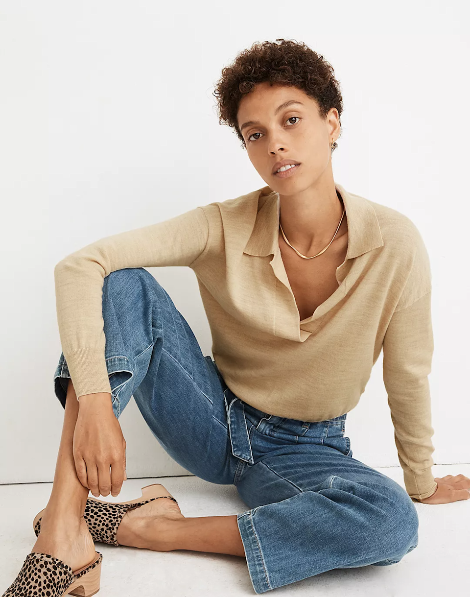 """<h3>Madewell</h3><br><strong>Dates: </strong>Limited time<br><strong>Sale: </strong>Insider Event. 20% off for Madewell Insiders, plus 40% off select fall styles<br><strong>Promo Code:</strong> Included with Insider sign-up<br><br>It pays big to be a Madewell Insiders. Along with perks like free shipping and returns, you also get access to exclusive sales like this <a href=""""https://www.madewell.com/womens/sale/insider-event"""" rel=""""nofollow noopener"""" target=""""_blank"""" data-ylk=""""slk:Insider Event"""" class=""""link rapid-noclick-resp"""">Insider Event</a>. There's a plethora of top-selling goods in this sale assortment and we don't know how long it's going to last, so you'd best get to carting before these <a href=""""https://www.madewell.com/secret-stock-sale"""" rel=""""nofollow noopener"""" target=""""_blank"""" data-ylk=""""slk:discounts"""" class=""""link rapid-noclick-resp"""">discounts</a> vanish without a trace.<br><br><strong>Madewell</strong> Polo Sweater, $, available at <a href=""""https://go.skimresources.com/?id=30283X879131&url=https%3A%2F%2Fwww.madewell.com%2Fpolo-sweater-MA692.html"""" rel=""""nofollow noopener"""" target=""""_blank"""" data-ylk=""""slk:Madewell"""" class=""""link rapid-noclick-resp"""">Madewell</a>"""