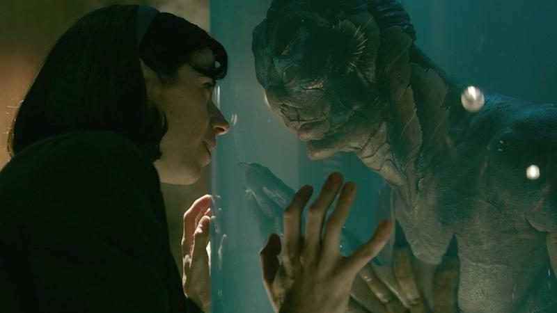 Sally Hawkins, left, and Doug Jones in