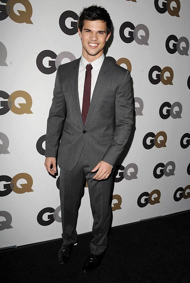 """Sexy """"Twilight"""" werewolf Taylor Lautner flashed his megawatt smile on the red carpet. Do you think the 18-year-old will make the cut next year? Steve Granitz/<a href=""""http://www.wireimage.com"""" target=""""new"""">WireImage.com</a> - November 17, 2010"""