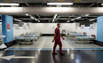 Israel's Rambam Health Care Campus in Haifa has transformed a car park into an intensive care facility for coronavirus patients