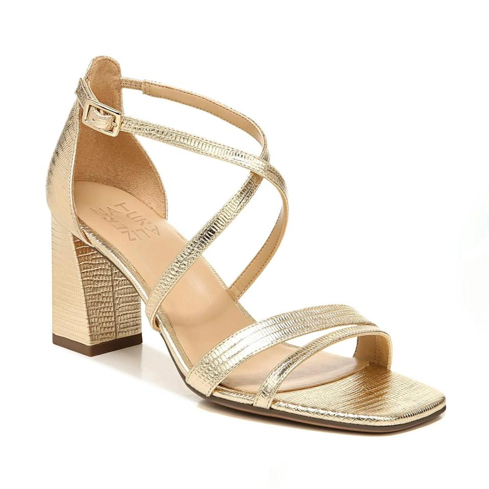 """You'd never guess that this glam pair of shoes, clocking in at a reasonable heel height, were actually made using Naturalizer's Contour Plus cushioning technology on the insoles. Comfort on the low-low! $110, Nordstrom. <a href=""""https://www.nordstrom.com/s/naturalizer-tiff-block-heel-sandal-women/5958306?"""" rel=""""nofollow noopener"""" target=""""_blank"""" data-ylk=""""slk:Get it now!"""" class=""""link rapid-noclick-resp"""">Get it now!</a>"""