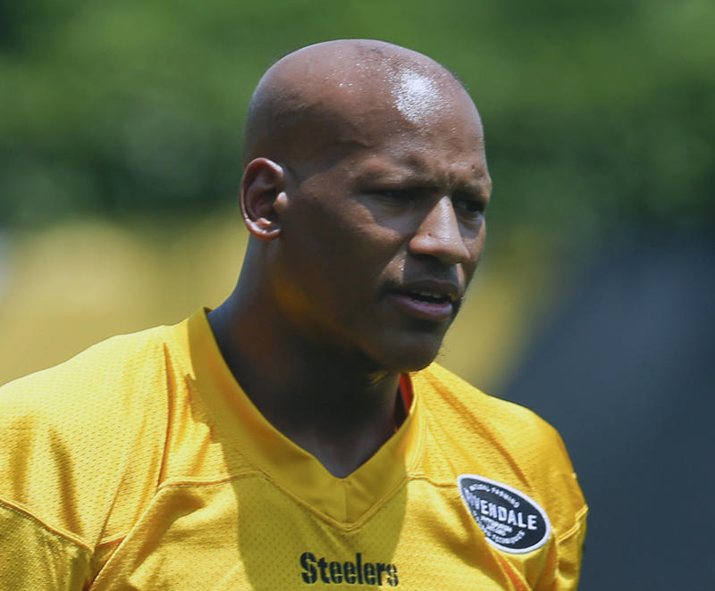 Ryan Shazier, shown here in a practice during summer of 2017, was released from the hospital. (AP)