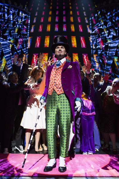 "In this undated theater image released by The Corner Shop shows Douglas Hodge as Willy Wonka during a performance of the ""Charlie And The Chocolate Factory."" The musical, a reinterpretation by Oscar-winning director Sam Mendes, premieres Tuesday, June 25, 2013, at London's Theatre Royal Drury Lane. (AP Photo/The Corner Shop, Helen Maybanks)"