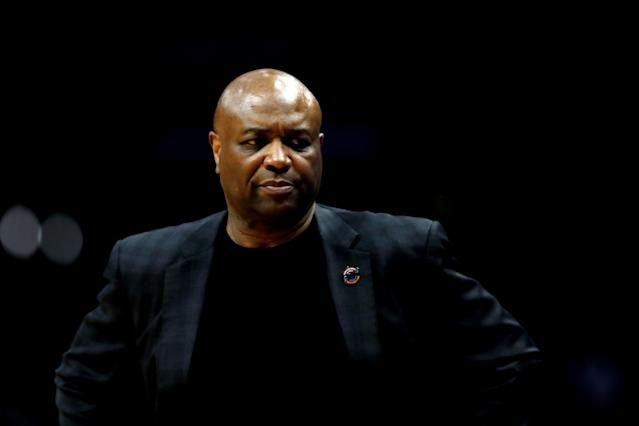 Florida State coach Leonard Hamilton was criticized for his conduct in a postgame interview with Dana Jacobson. (Getty)