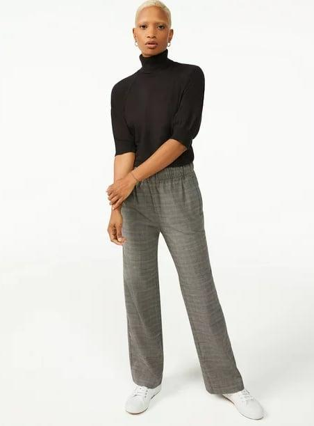 <p>FYI, these <span>Free Assembly Women's Straight Leg Pull-On Pants</span> ($30) also come in black.</p>