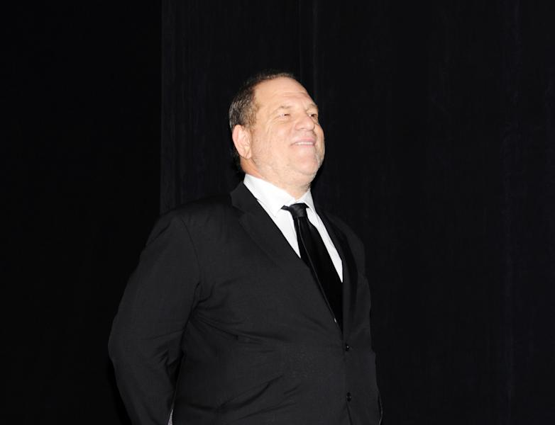 """Harvey Weinstein arrives at the premiere of """"August: Osage County"""" on day 5 of the Toronto International Film Festival at the Roy Thomson Hall on Monday, Sept. 9, 2013, in Toronto. The movie mogul talks to Associated Press in an exclusive interview about the """"12-12-12"""" (Sandy benefit at MSG) documentary he premiered at TIFF, and how they amassed the biggest names in music. He also spoke about his TIFF premiere of """"August: Osage County,"""" and how proud he is of """"The Butler."""" (Photo by Evan Agostini/Invision/AP)"""