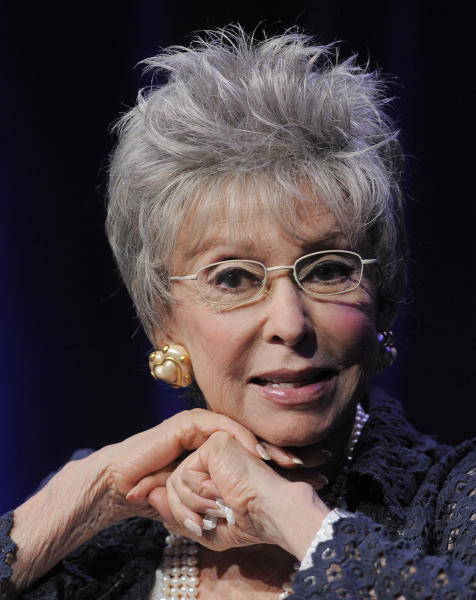 "Actress/singer Rita Moreno discusses the documentary film ""Latino Americans"" at the PBS Summer 2013 TCA press tour at the Beverly Hilton Hotel on Wednesday, Aug. 7, 2013, in Beverly Hills, Calif. (Photo by Chris Pizzello/Invision/AP)"