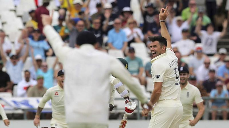 Jimmy Anderson took five wickets as England secured a 46-run first-innings lead over South Africa