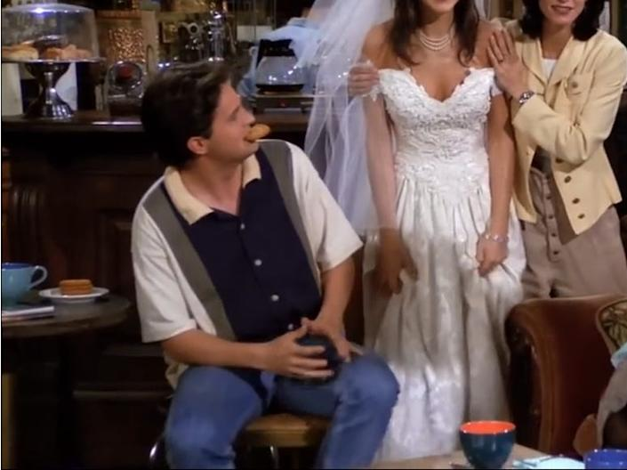 Chandler's shirt had a few colors in it.
