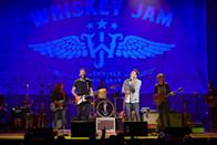 """<p>Brad Tursi and Matt Ramsey, members of country group Old Dominion, performed several hit songs in a configuration Whiskey Jam founder Ward Guenther referred to as """"Old Duo-minion""""</p>"""