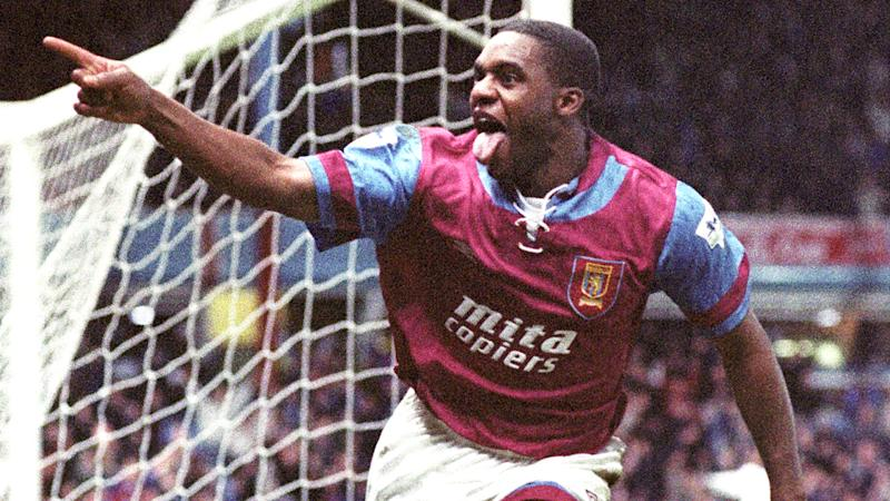 Dalian Atkinson, pictured playing for Aston Villa in the early 1990s.
