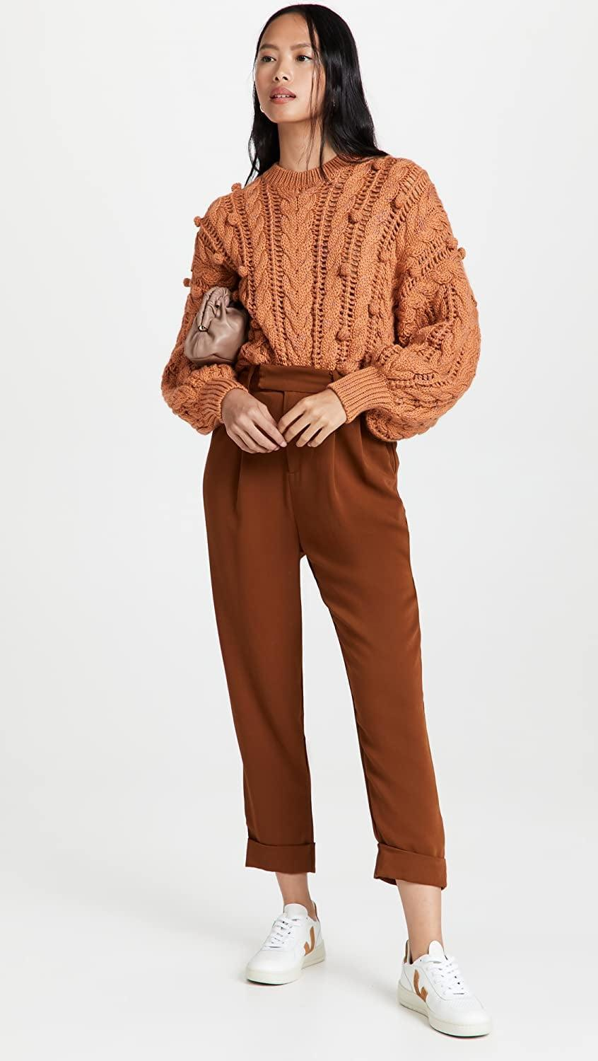 <p>These <span>BB Dakota by Steve Madden Crop Motion Pants</span> ($89) are perfect for fall. We love the autumnal rust shade.</p>