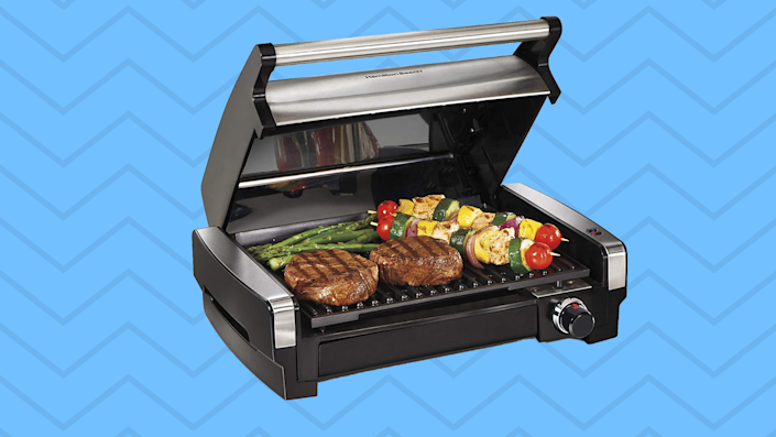 While we wait for April showers to turn into May flowers, get the barbecue going indoors with this baby! (Photo: Amazon)