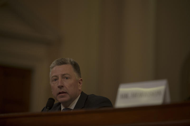 Ambassador Kurt Volker testifies during the House Intelligence Committee hearing on the impeachment inquiry on Capitol Hill in Washington, D.C. on Nov. 19, 2019. | Gabriella Demczuk for TIME