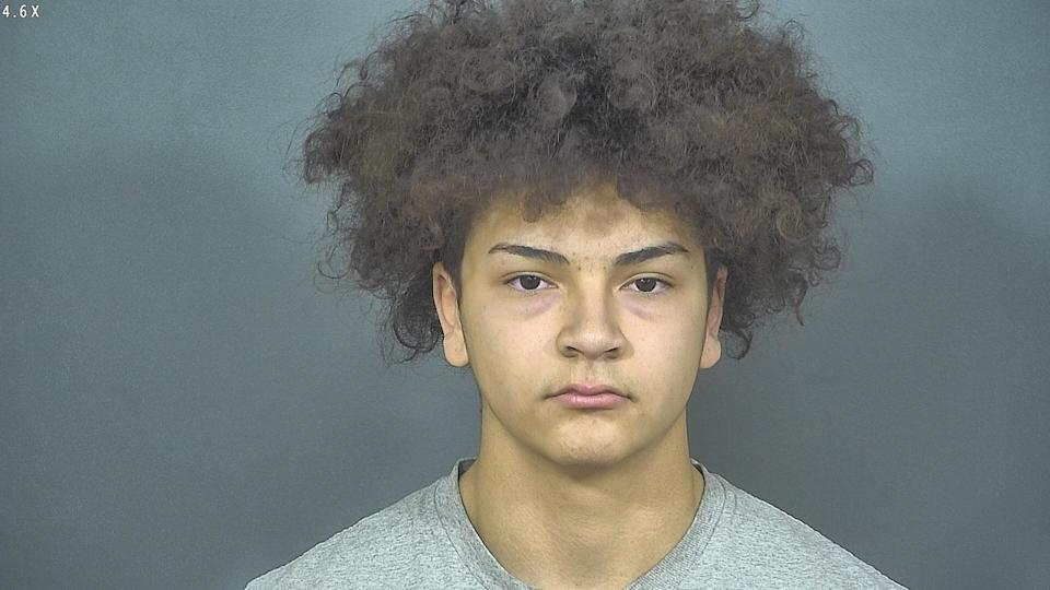 Police said Aaron Trejo, a member of the Mishawaka High School football team, was being held on a preliminary murder charge. (Photo: St. Joseph County Police Department)