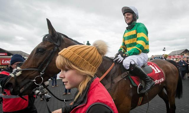 "<span class=""element-image__caption"">Noel Fehily onboard Unowhatimeanharry after winning the Champion Stayers Hurdle at Punchestown.</span> <span class=""element-image__credit"">Photograph: Byrne/INPHO/REX/Shutterstock</span>"