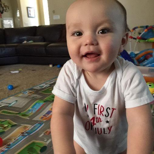 Baby Cole had just celebrated his first birthday. Photo: Gofundme