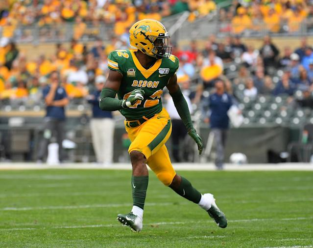 Jabril Cox won three FCS national championships during his time at North Dakota State. (Photo by Sam Wasson/Getty Images)