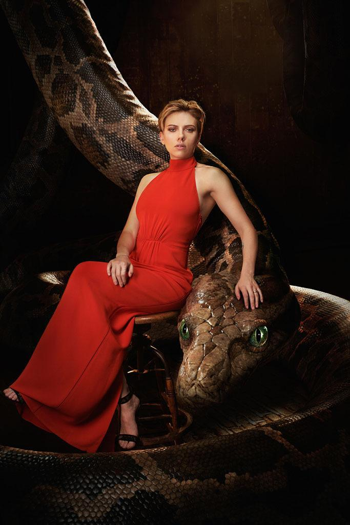 "<p>Johannson voices the movie's dangerous, alluring python. ""The original film was a little male-heavy so we changed the character of Kaa,"" <a href=""https://www.yahoo.com/movies/jon-favreau-breaks-down-disneys-live-action-129130133927.html"" data-ylk=""slk:director Jon Favreau told Yahoo Movies last fall;outcm:mb_qualified_link;_E:mb_qualified_link;ct:story;"" class=""link rapid-noclick-resp yahoo-link"">director Jon Favreau told Yahoo Movies last fall</a> about the 1967 Disney version of <i>The Jungle Book</i>. ""We thought that Scarlett, who I've worked with a few times, would be perfect.<br></p>"