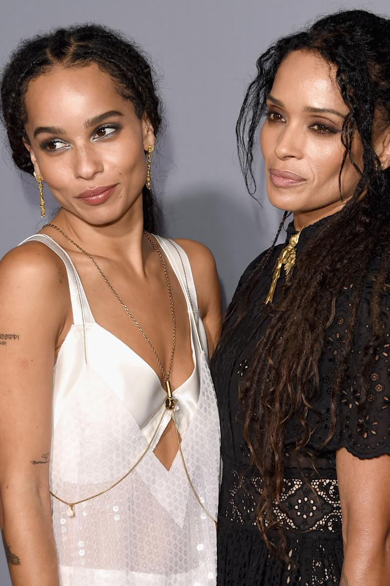 Mother Daughter Pair Lisa Bonet And Zoe Kravitz Pose For
