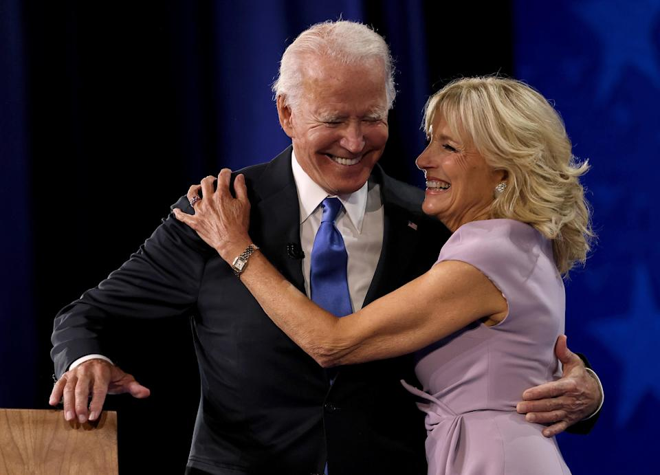 """<h1 class=""""title"""">Joe Biden Accepts Party's Nomination For President In Delaware During Virtual DNC</h1><cite class=""""credit"""">Win McNamee/Getty Images</cite>"""