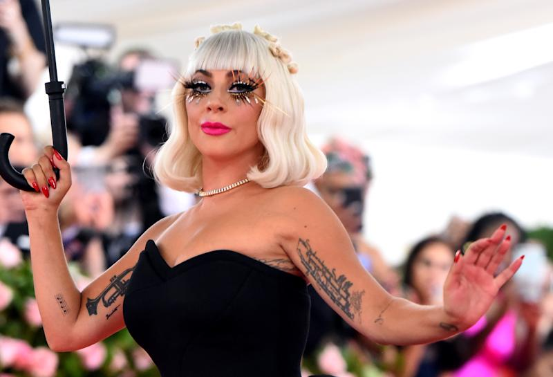 Lady Gaga attending the Metropolitan Museum of Art Costume Institute Benefit Gala 2019 in New York, USA. (Photo by Jennifer Graylock/PA Images via Getty Images)