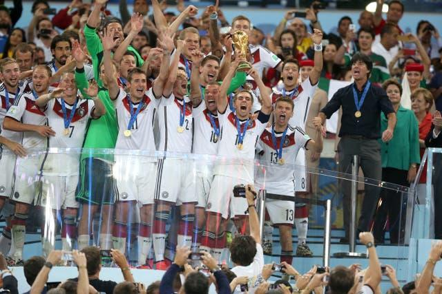 Joachim Low, right, led Germany to victory at the 2014 World Cup in Brazil