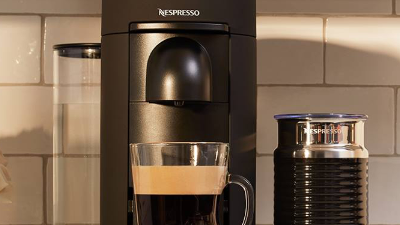 This machine makes a mean cup of joe.