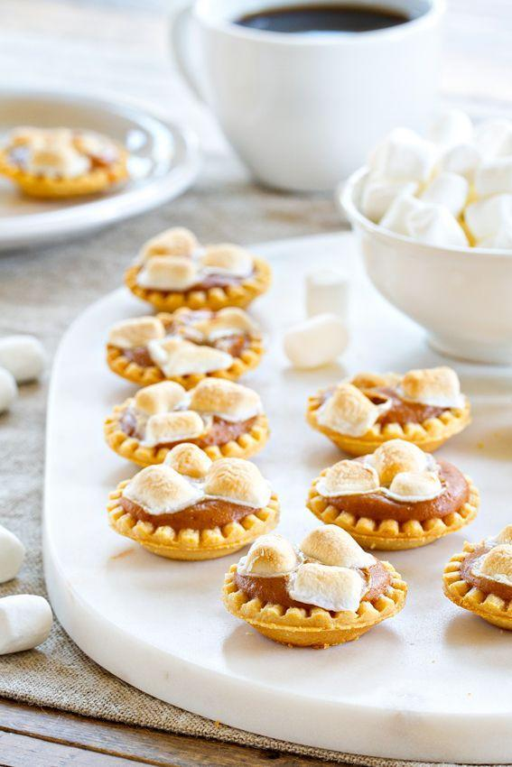 """<p>Thanks to pre-made mini tart shells these desserts are a cinch to make.</p><p><strong>Get the recipe at <a href=""""http://www.mybakingaddiction.com/mini-sweet-potato-pies/"""" rel=""""nofollow noopener"""" target=""""_blank"""" data-ylk=""""slk:My Baking Addiction"""" class=""""link rapid-noclick-resp"""">My Baking Addiction</a>.</strong></p><p><a class=""""link rapid-noclick-resp"""" href=""""https://www.amazon.com/Norpro-Nonstick-Mini-Pie-Pans/dp/B000F7A5PS?tag=syn-yahoo-20&ascsubtag=%5Bartid%7C10050.g.877%5Bsrc%7Cyahoo-us"""" rel=""""nofollow noopener"""" target=""""_blank"""" data-ylk=""""slk:SHOP MINI PIE PANS"""">SHOP MINI PIE PANS</a></p>"""