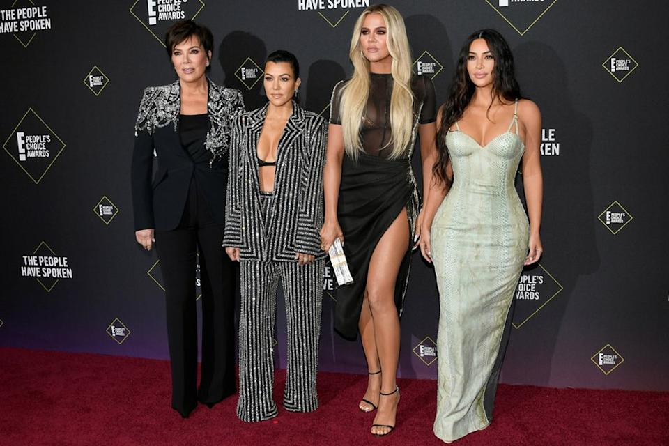 From L to R: Kris Jenner, Kourtney Kardashian, Khloé Kardashian and Kim Kardashian West | Jon Kopaloff/FilmMagic
