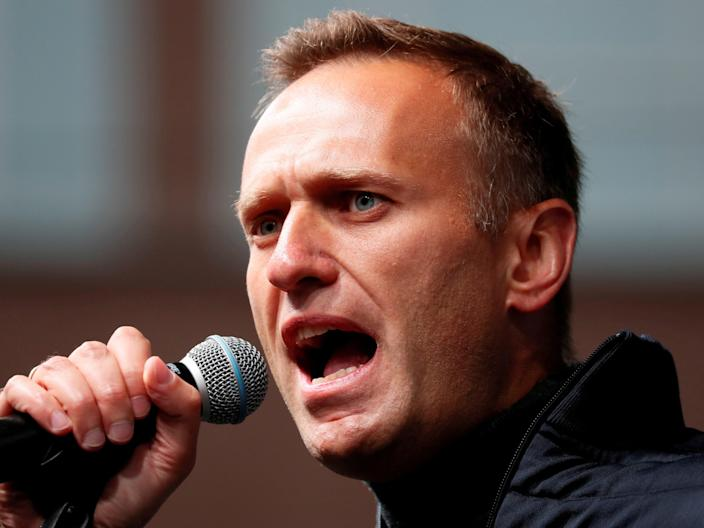Alexei Navalny was arrested in January upon his return from Germany, where he had been recovering from a nerve-agent poisoning (REUTERS/Shamil Zhumatov)