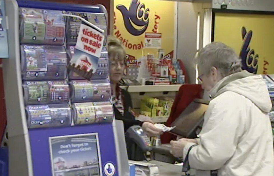 The store where the 56-year-old bought her winning ticket. Source: BBC