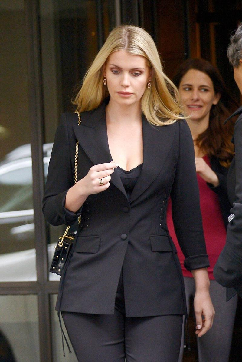 Lady Kitty Spencer, 28, in New York City with 32-year-older boyfriend Michael Lewis