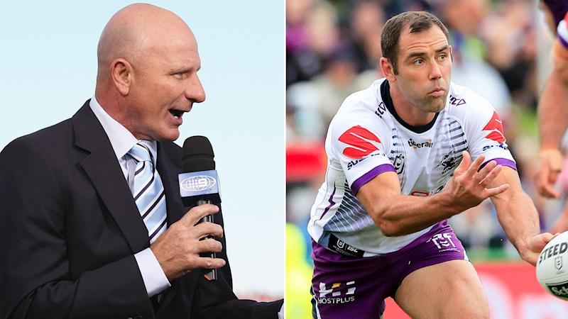 Pictured here, rugby league great Peter Sterling and Melbourne Storm skipper Cam Smith.