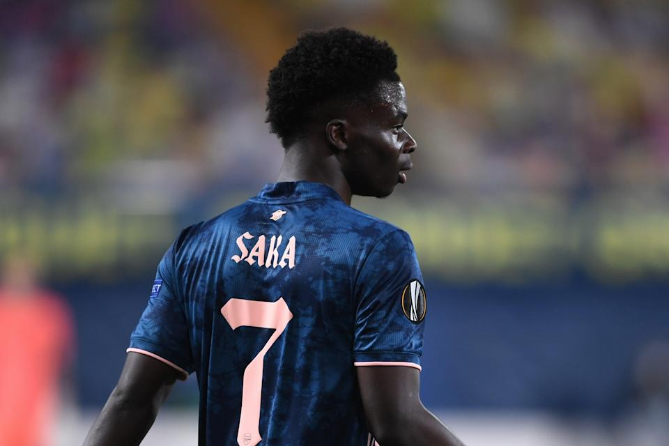 <p>Bukayo Saka was arguably Arsenal's best player against Villarreal in Spain</p> (Arsenal FC via Getty Images)