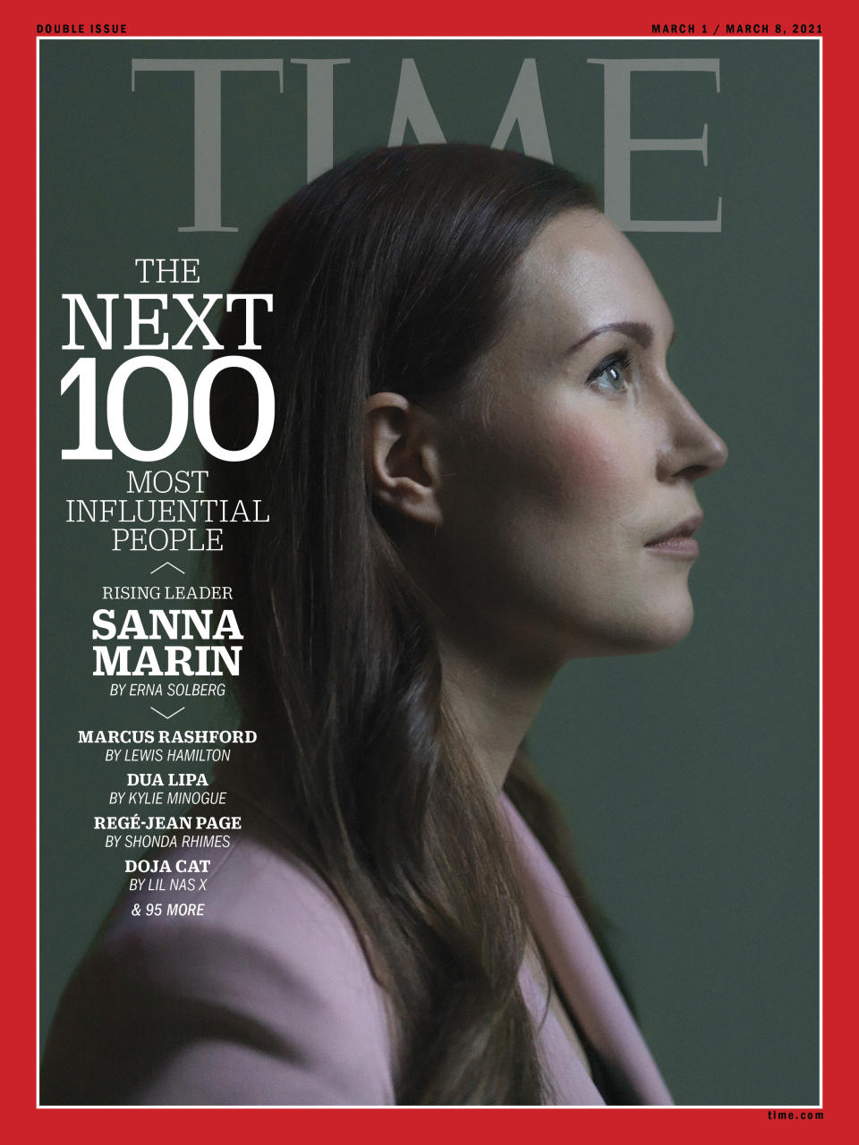 TIME100 Next cover Sanna Marin