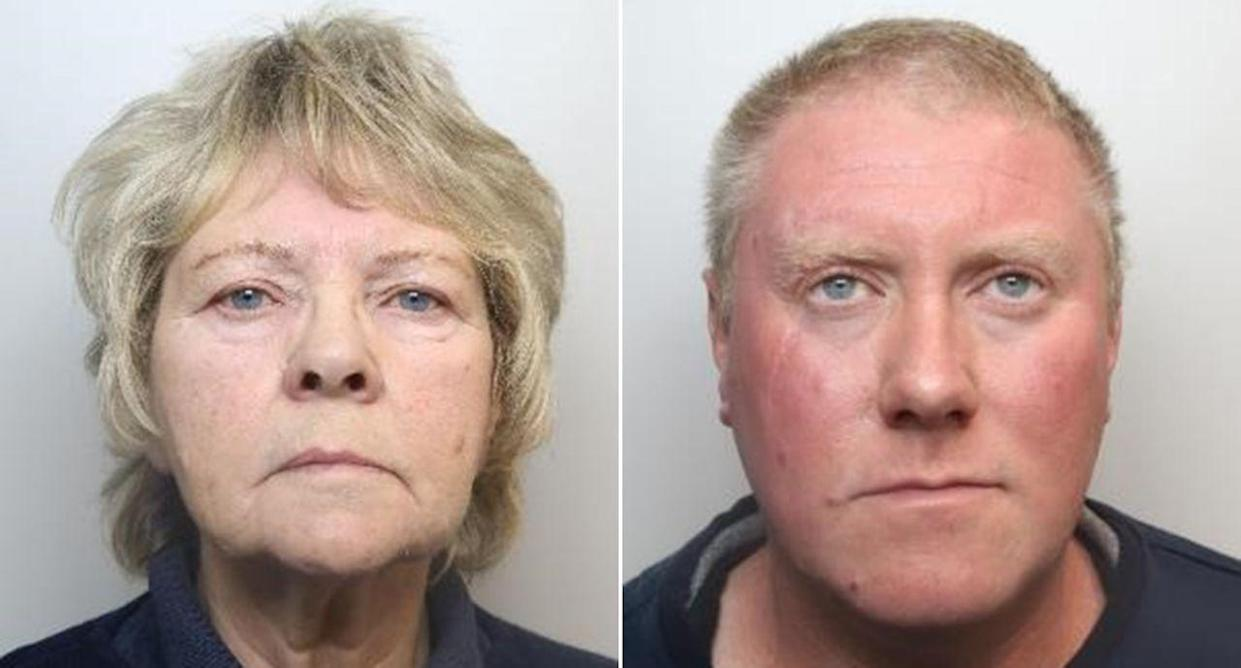 Carol Dawson, 72, and her son Scott, 41, have been sentenced to life in prison (Pictures: PA)