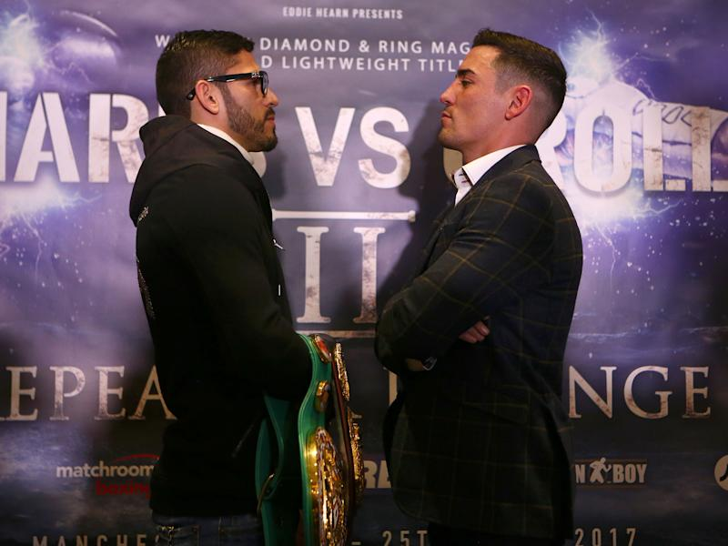 Jorge Linares faces Anthony Crolla in a WBA lightweight title rematch: Getty
