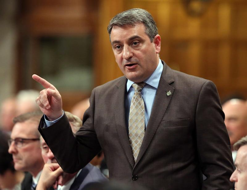 Paul Calandra stands in the House of Commons during question period on Parliament Hill in Ottawa on June 11, 2015. (Photo: The Canadian Press)