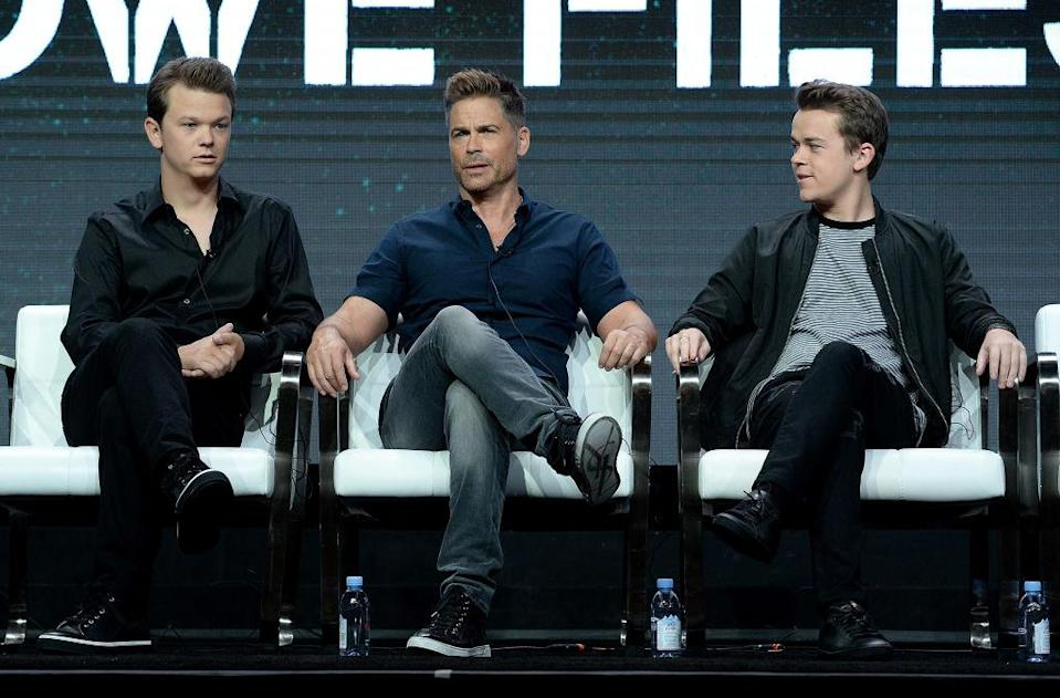 Matthew Lowe, left, Rob Lowe, and John Owen Lowe appear at the 2017 Summer Television Critics Association Press Tour on July 28, 2017, in Los Angeles. (Photo: Michael Kovac/Getty Images for Lifetime Television)