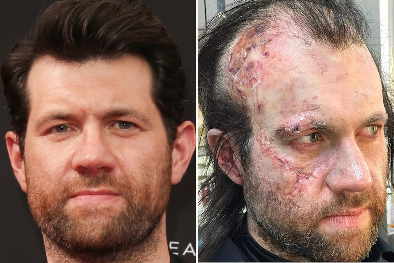 Poor Billy Eichner spent a good part of <em>Apocalypse</em> running around as a tattered survivor of the nuclear fallout. Photos courtesy of Getty Images and IMDB.